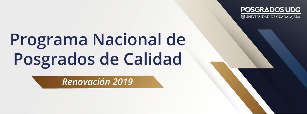 Programa Nacional de Posgrados de Calidad, Renovación 2019